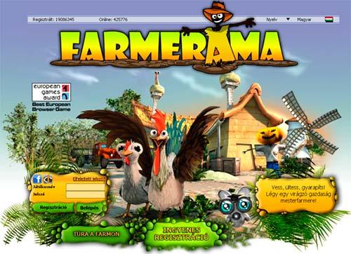 Farmerama főoldal