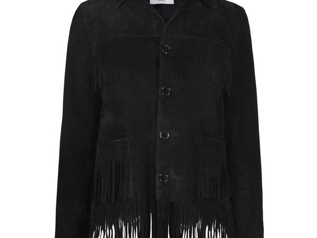 Saint Laurent Fringed Suede Jacket b834a14668