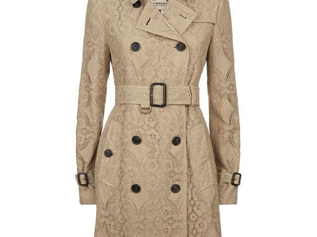 Burberry London Kensington Lace Trench Coat 462d1c0381