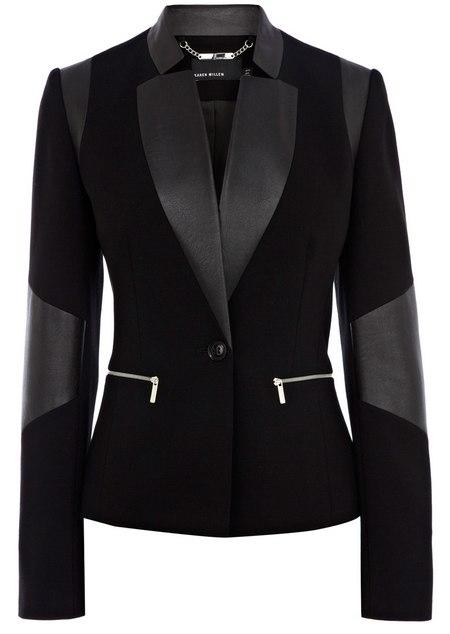 Fekete műbőr díszítéses blézer (Karen Millen) - Fashion 0a7bb7d5e5