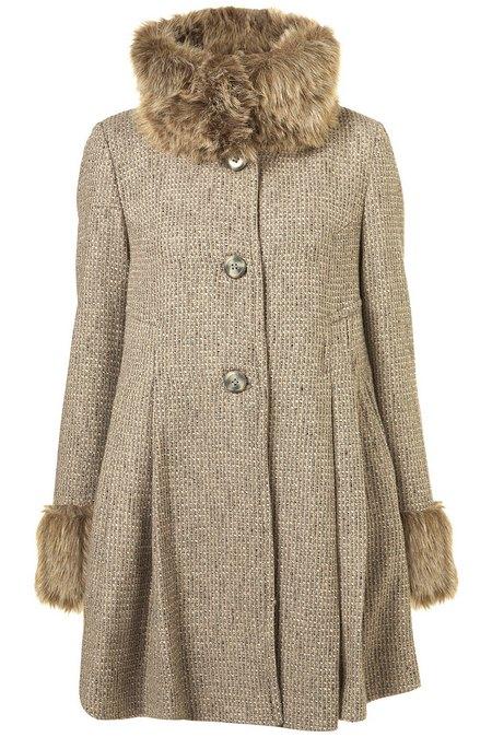 kabát bézs női divat Topshop 402192fa57
