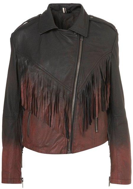 6b8cd9f834 Fekete-piros rojtos bőrdzseki - Fashion, Style & Beauty