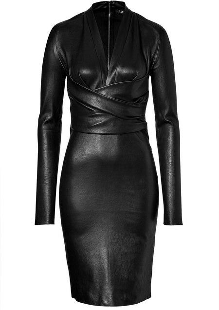 Fekete hosszú ujjú bőrruha (Jitrois) - Fashion 737ca70a44