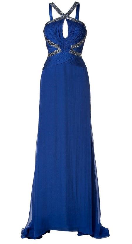 Kék pántos selyem estélyi ruha (Roberto Cavalli) - Fashion c98b43ae5e