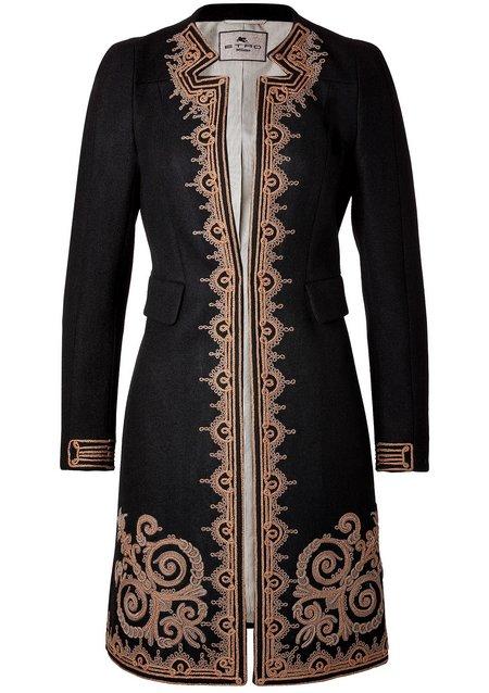 Fekete hímzett kabát (Etro) - Fashion 79e53278da