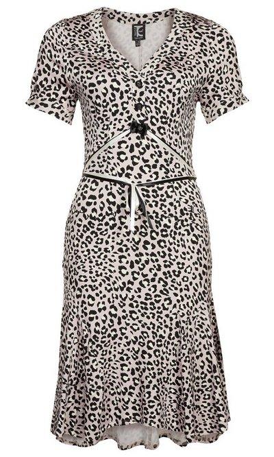 Állatmintás rövid ujjú ruha (Tricot Chic) - Fashion a6792a142c