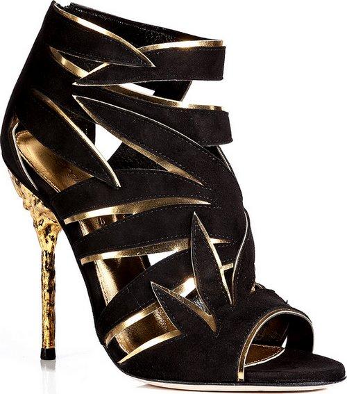 f949ff7740fa Sergio Rossi fekete-arany magas sarkú szandál - Fashion, Style & Beauty