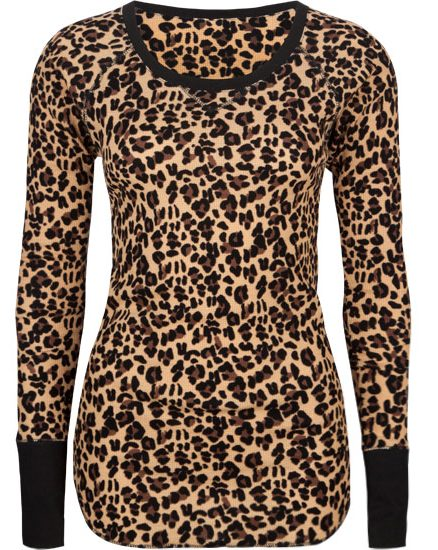 Leopárdmintás hosszú ujjú top (Full Tilt) - Fashion 1b3a625a95
