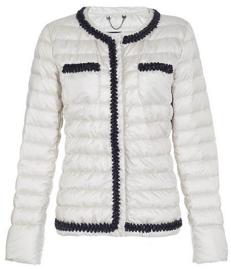 Fehér steppelt dzseki kontrasztos díszítéssel (Max Mara Weekend ... 2625a39043
