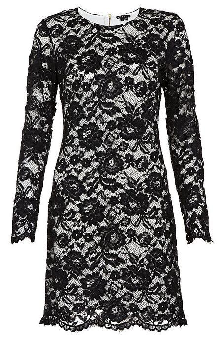 4c0ce7697c Fekete bélelt, hosszú ujjú csipkeruha (Theory) - Fashion, Style & Beauty