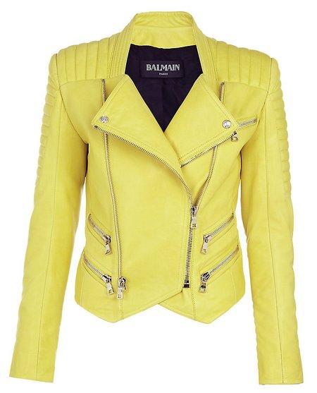 Sárga bőrdzseki (Balmain) - Fashion 7435bc3fd7