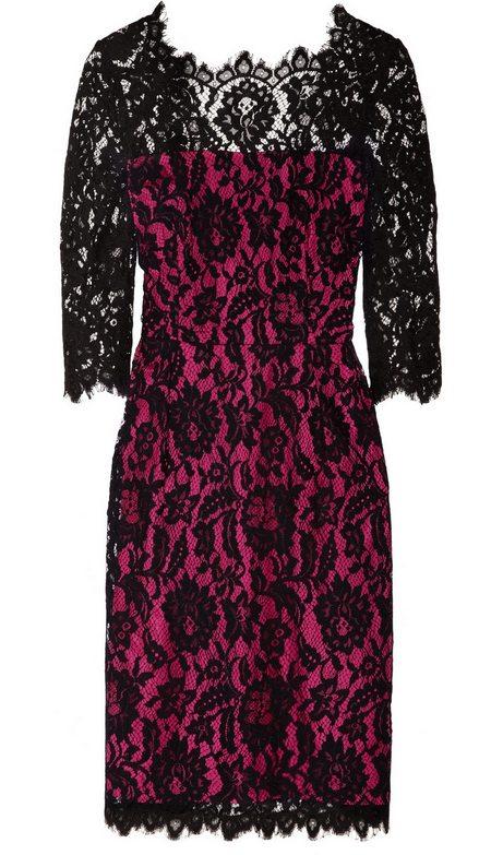 9fead59634 Pink-fekete hosszú ujjú csipkeruha (Milly) - Fashion, Style & Beauty
