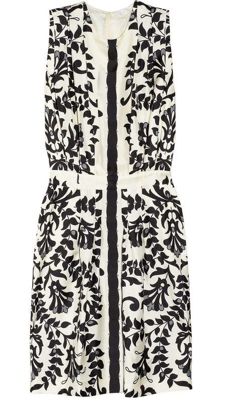 ruha fekete-fehér mintás női divat Chloé 02eed37b21