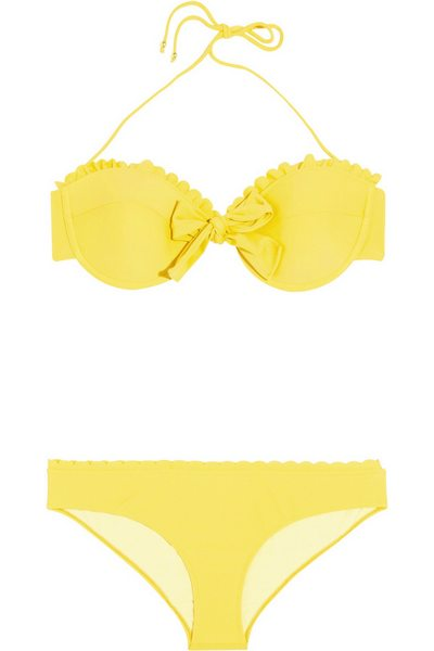 sárga bikini női divat Miu Miu c95deb2342