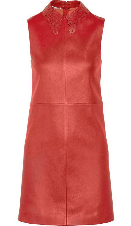 bőr ruha piros női divat Miu Miu 5b05f54c78