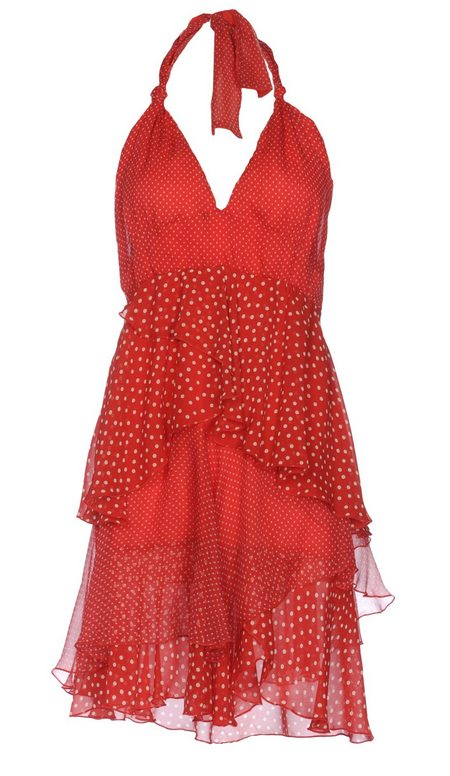 pöttyös ruha mintás női divat Centocinquanta piros-fehér d94aec9a78
