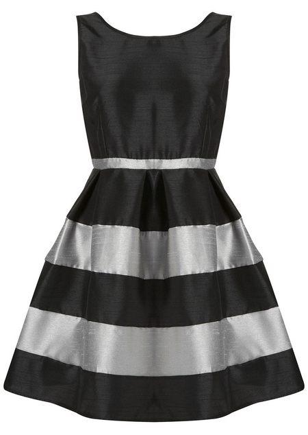 Fekete-ezüstszürke ujjatlan alkalmi ruha (Annie Greenabelle ... c88edbae67