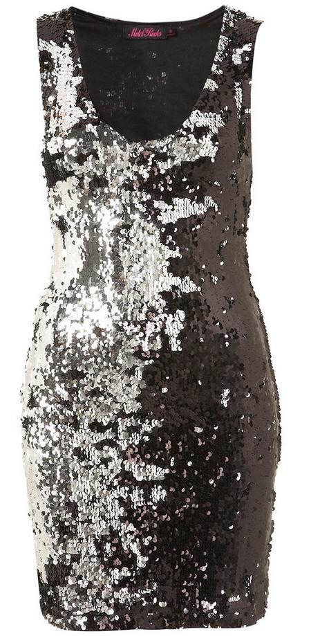 Fekete-ezüst flitteres ujjatlan alkalmi ruha (Motel) - Fashion ... b658d99e28
