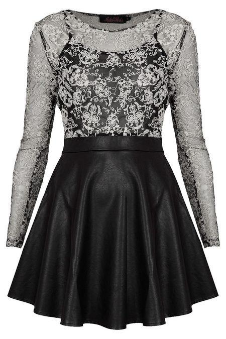 b1bac0c29c Fekete-fehér csipkés hosszú ujjú ruha (Motel) - Fashion, Style & Beauty