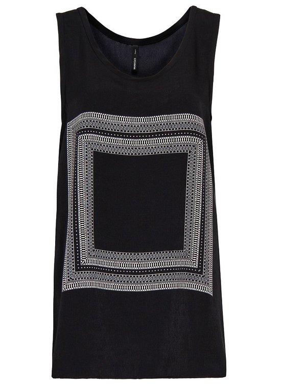 effd710e32 Mango fekete-fefér sálmintás top - Fashion, Style & Beauty