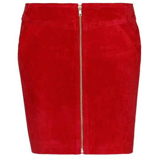 Mango piros cipzáros bőr miniszoknya - Fashion 73f9aeca05