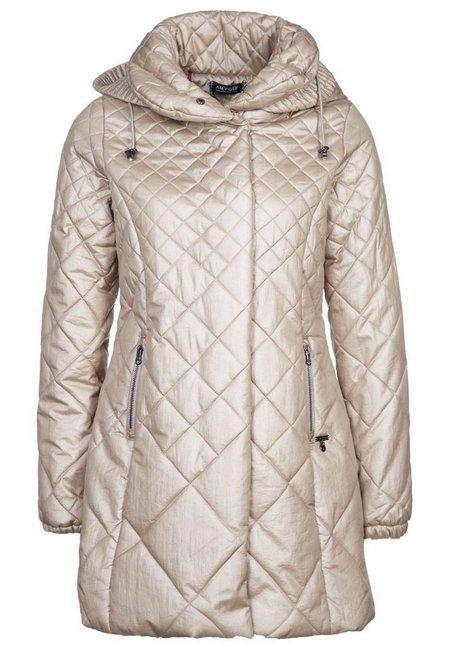 Bézs kapucnis steppelt télikabát (Amy Gee) - Fashion d656954f8b