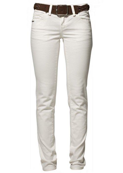 Fehér farmernadrág barna övvel (Best Mountain) - Fashion c8eb612168