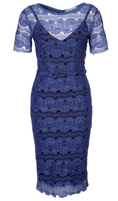 Kék bélelt rövid ujjú csipke ruha (Body Frock) - Fashion 2585a983cd