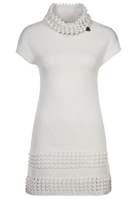 Fehér rövid ujjú kötött ruha (Blugirl Folies) - Fashion b353e4c3a6