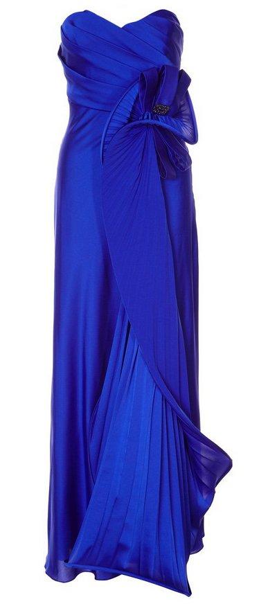 Kék pánt nélküli estélyi ruha (Bagatelle) - Fashion 8dc22d1c57