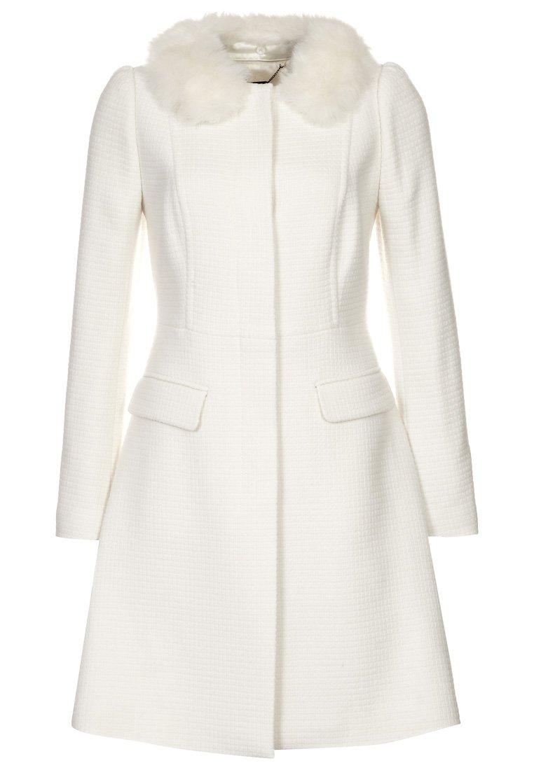 Fehér kabát levehető műszőrme gallérral (Coast) - Fashion 45f8d99581