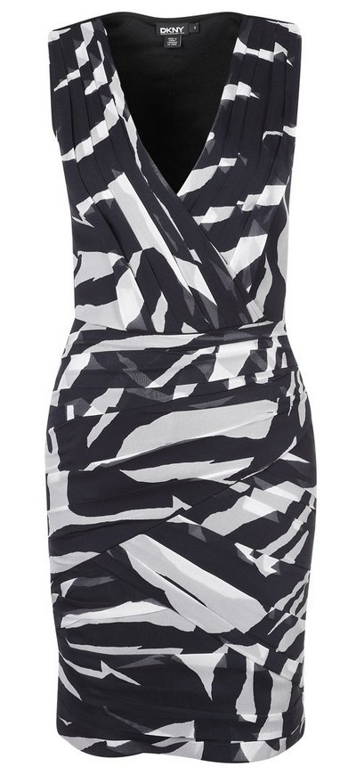 ruha fekete-fehér állatmintás zebramintás női divat DKNY Donna Karan 1849d67aa0