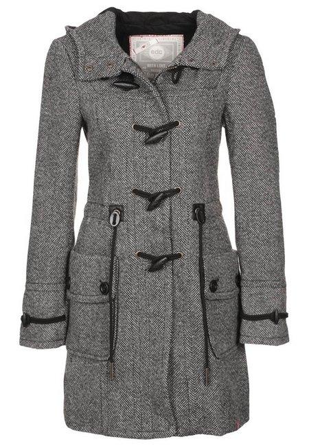 Szürke kapucnis félgyapjú kabát (EDC by Esprit) - Fashion 2d65a33744