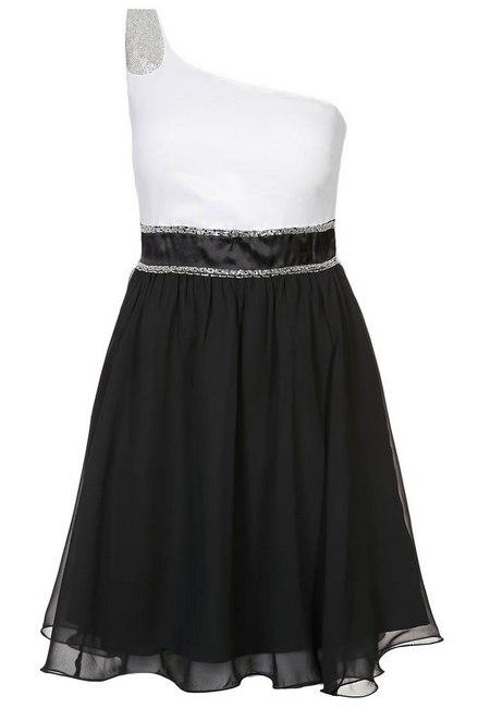 Fekete-fehér aszimmetrikus koktélruha (Even   Odd) - Fashion b139db0b21