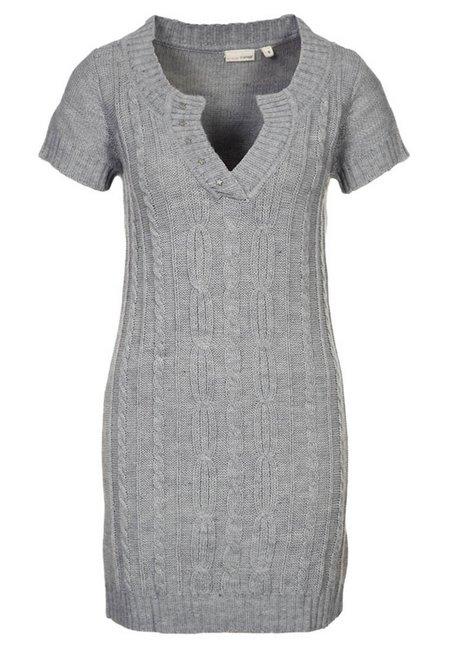 Szürke rövid ujjú kötött ruha (Fransa) - Fashion 0016d91ab9