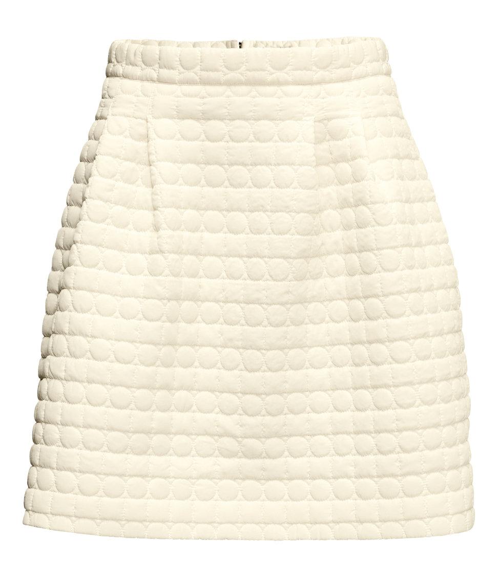 Fehér steppelt szoknya (H M) - Fashion a7759e341b