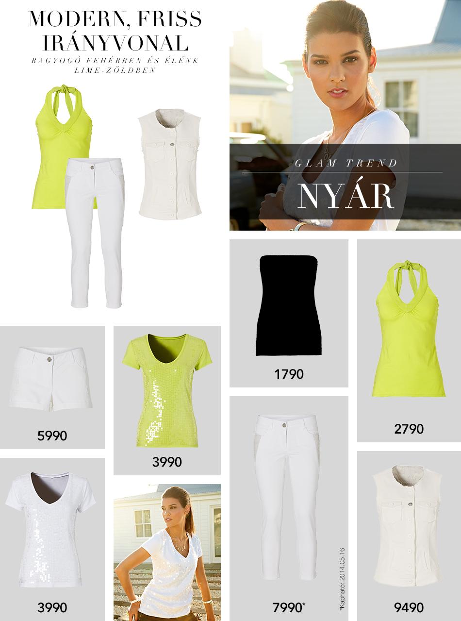 1ee2128e4d Takko Fashion - Glam trend: Nyár ragyogó fehérben és élénk lime-zöldben