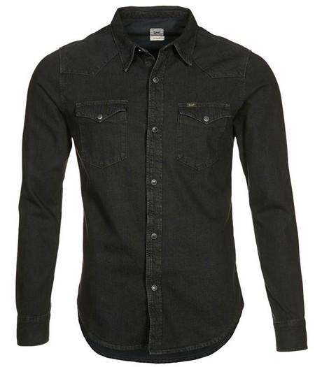Fekete hosszú ujjú férfi farmering (Lee) - Fashion 99420cdf53