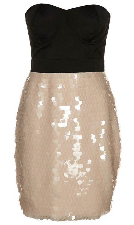 koktélruha flitteres alkalmi ruha női divat Lipsy London bézs-fekete a531f3eafb