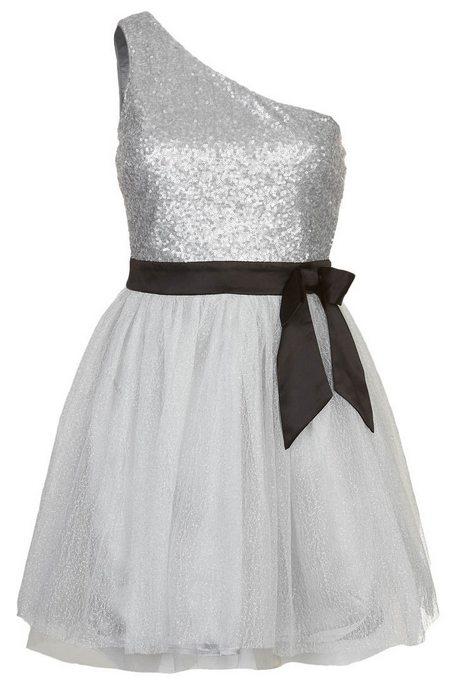 Ezüstszínű aszimmetrikus koktélruha fekete övvel (Lipsy) - Fashion ... 41a88b7104