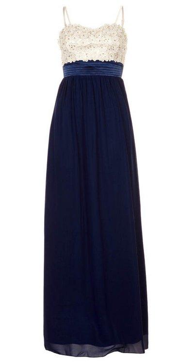 Kék-fehér pántos estélyi ruha (Little Mistress) - Fashion fe99802ad9