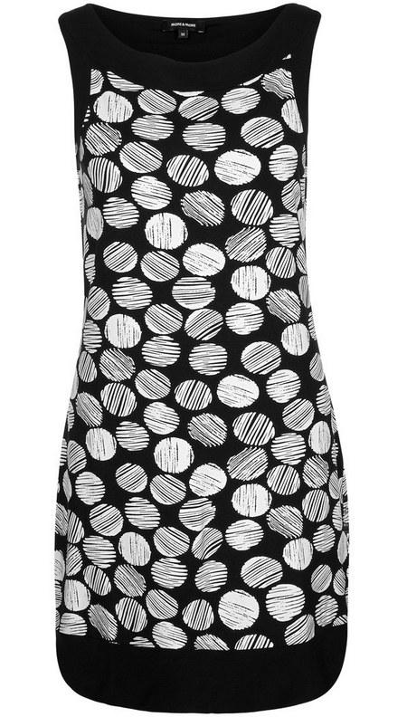 pöttyös ruha fekete-fehér mintás női divat More   More c3622564cc