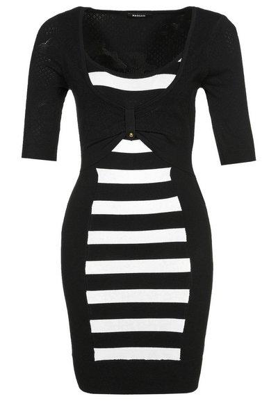 ruha fekete-fehér csíkos női divat Morgan b847fe81e1