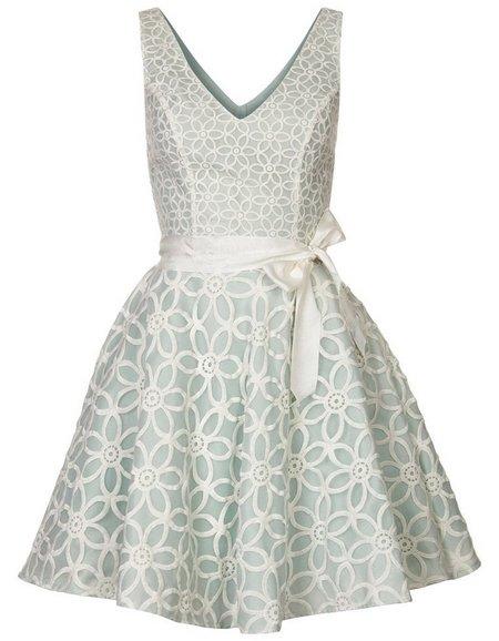 Halványzöld-fehér ujjatlan koktélruha (Morgan) - Fashion 2465b27917