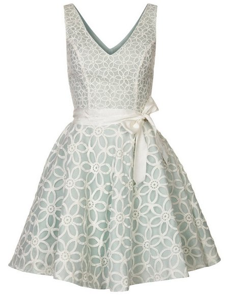 Halványzöld-fehér ujjatlan koktélruha (Morgan) - Fashion c135273fbd