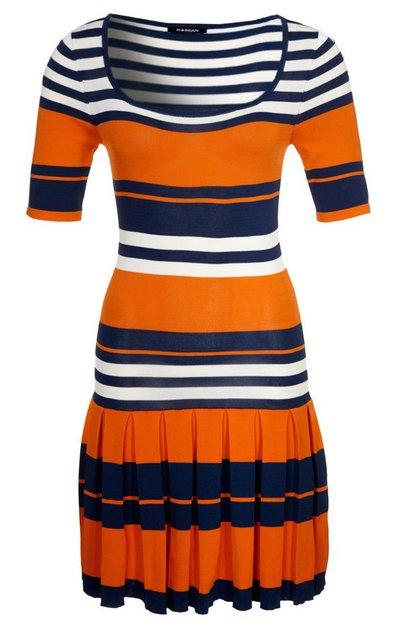 Narancssárga-kék-fehér csíkos rövid ujjú ruha (Morgan) - Fashion ... 65b5e173a6