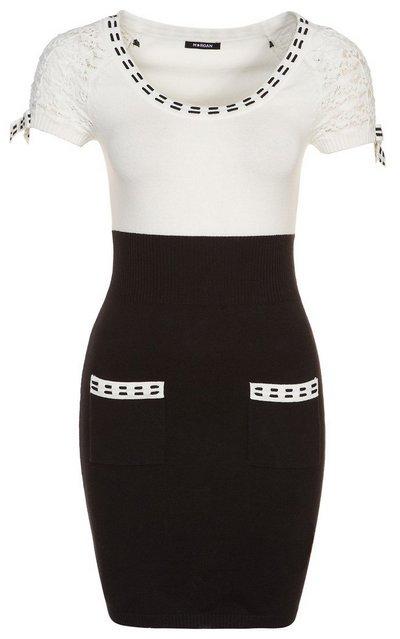 Fekete-fehér rövid ujjú ruha (Morgan) - Fashion 15dd2fad49