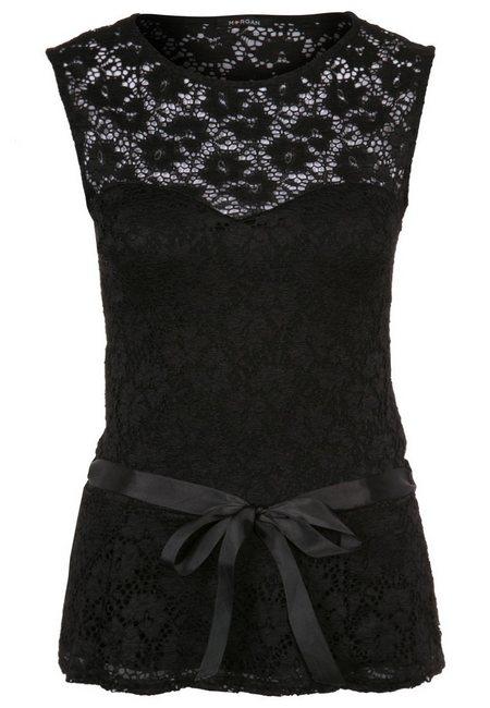 fekete csipke női divat Morgan felsők topok e226995e32