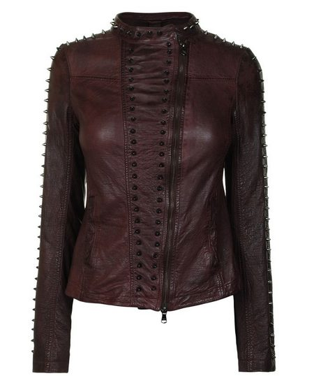 Bordó szegecses bőrdzseki (Patrizia Pepe) - Fashion c290369334
