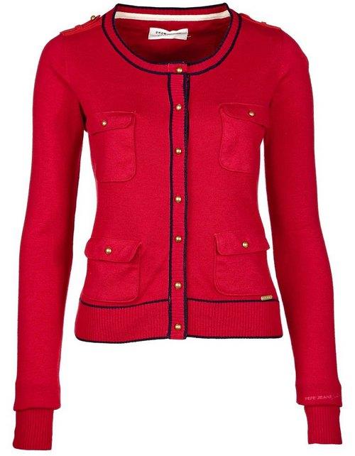 Piros-fekete kardigán (Pepe Jeans) - Fashion 2979e633c1